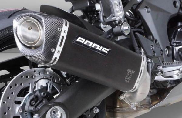 Auspuff Bodis V4 M CA schwarz Kawasaki Ninja 1000 SX Bj 2020 bis 2021