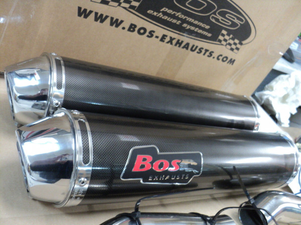 Auspuff BOS Carbon Steel rund Honda CB 900 Hornet Bj 2002 bis 2005