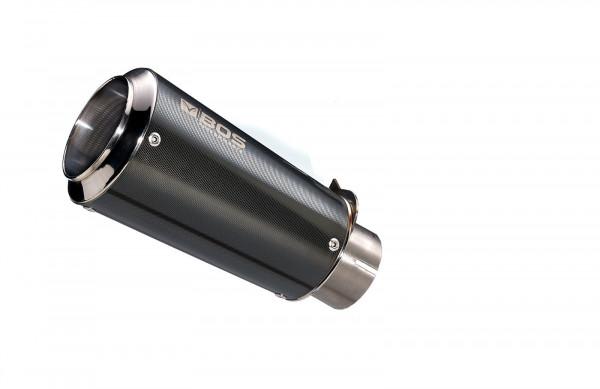 Auspuff BOS Ssec RR Carbon Steel rund BMW S 1000 R Bj 2014 bis 2016