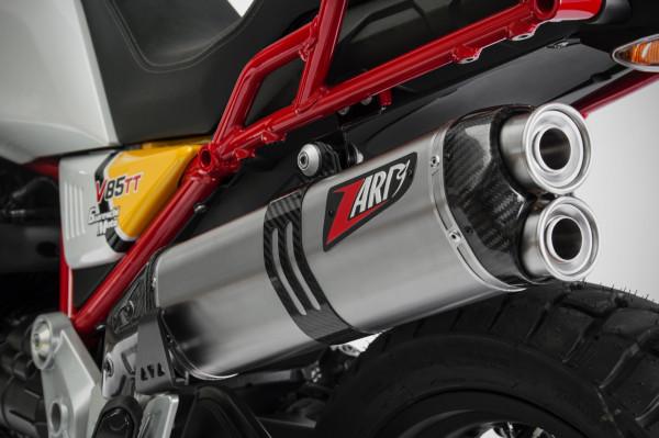 Auspuff Zard Edelstahl Moto Guzzi V85TT Bj 2019